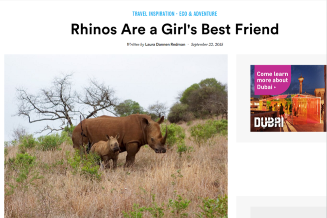 Baby rhino signals hope in a war against poaching